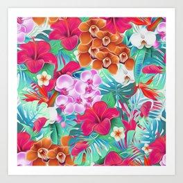Colorful Tropical Jungle Art Print