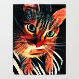 Cheshire Stripes Cat Poster