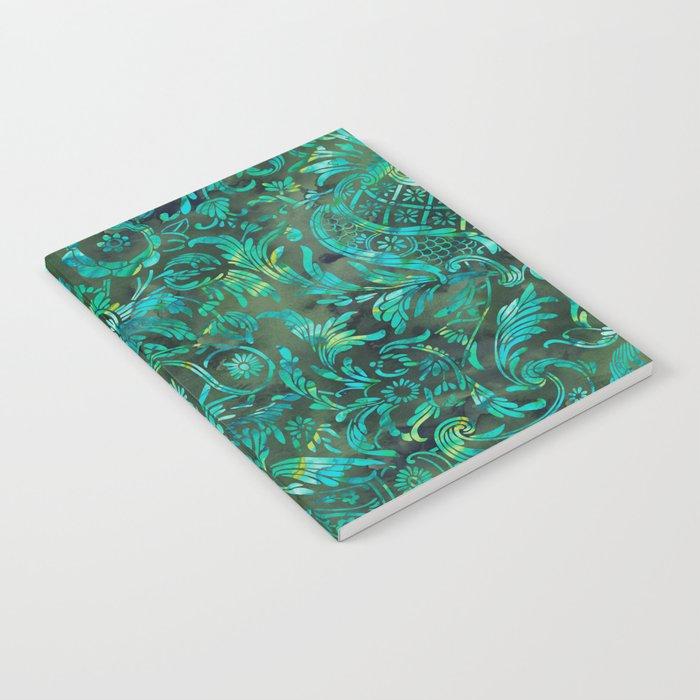 Watercolor Damask Pattern 05 Notebook