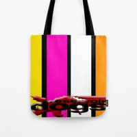 reservoir dogs Tote Bags featuring Reservoir Dogs by KP Designs