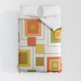 Retro Minimalist Square Design Comforters