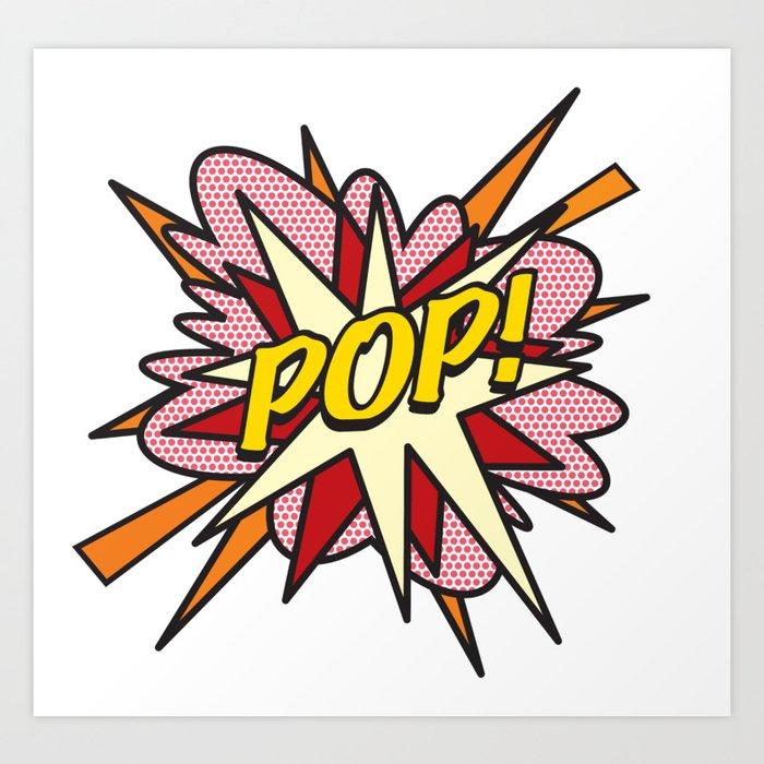 POP Comic Book Flash Pop Art Art Print
