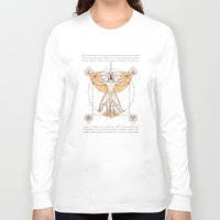 aang Long Sleeve T-shirts featuring Vitruvian Aang by Fanboy30