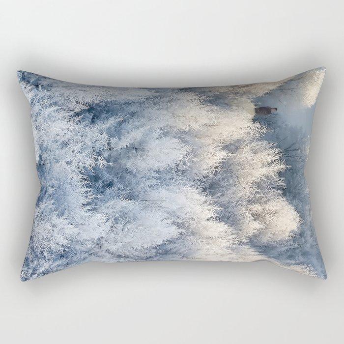 Snow Cottage Rectangular Pillow