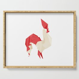 Origami Rooster Serving Tray