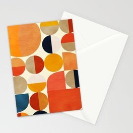 geometric abstract shapes autumn Stationery Cards