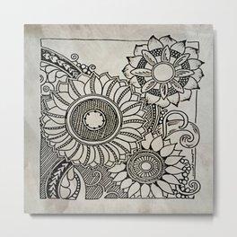 Big Flowers Metal Print