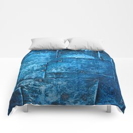 Blue Metal Plates Comforters