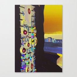 EVIL EYES OF MYKONOS Canvas Print