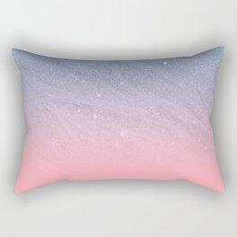 Modern blush coral pink pastel blue elegant faux glitter Rectangular Pillow