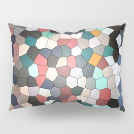 Colorful Mosaik Pattern Design Pillow Sham