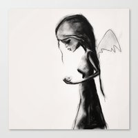 angel Canvas Prints featuring Angel by SannArt