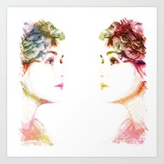 The Colors Of Her Heart Art Print