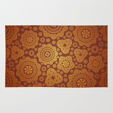 Warm Gold Paisley Pattern Rug