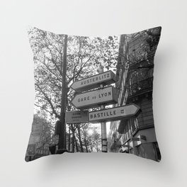 Gare De Lyon Throw Pillow