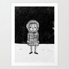 snowgirl Art Print