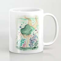diver Mugs featuring Diver by Jenny Jordahl