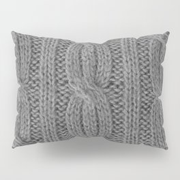Grey Soft Wool Pillow Sham
