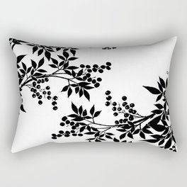 TREE BLACK AND WHITE LEAF TOILE PATTERN Rectangular Pillow