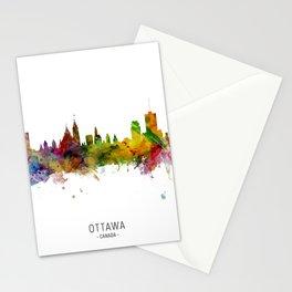 Ottawa Canada Skyline Stationery Cards