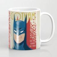 gotham Mugs featuring Gotham #3 by SatrunTwins