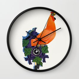 Retro Rooster and Coo-Coo Clock Wall Clock