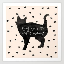 Reading Is The Cat's Meow Art Print
