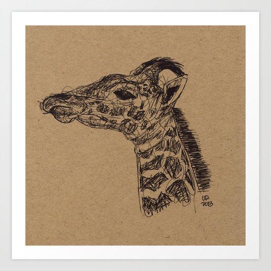 Geraldine Giraffe Art Print