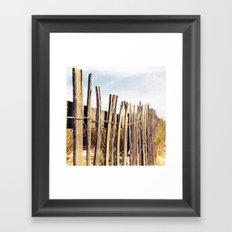 Fence Framed Art Print
