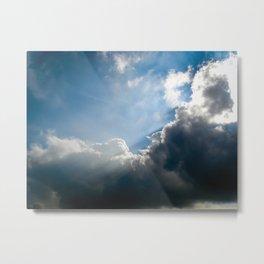 Sun Rays - Colorful Metal Print