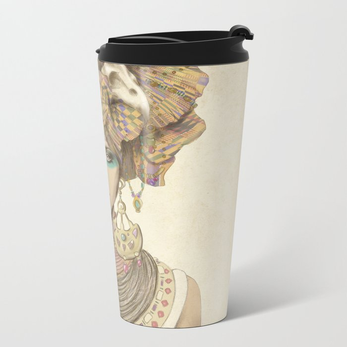 K of Clubs Metal Travel Mug