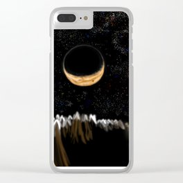 Crescent Moonlight Forest Clear iPhone Case