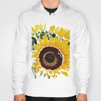 sunflowers Hoodies featuring Sunflowers by Regan's World
