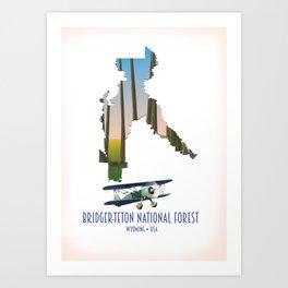 Bridger-teton national forest, wyoming USA. Art Print