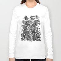 hawk Long Sleeve T-shirts featuring Hawk by Kristian Boserup