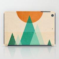mountains iPad Cases featuring No mountains high enough by Picomodi