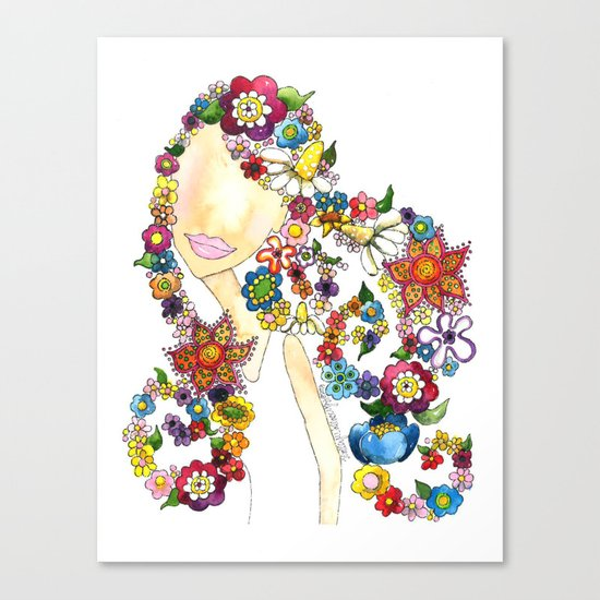 Flower Girl One Canvas Print