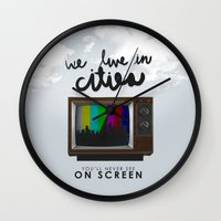 lorde Wall Clocks featuring Cities you'll never see on screen - Lorde by Jesus Acosta