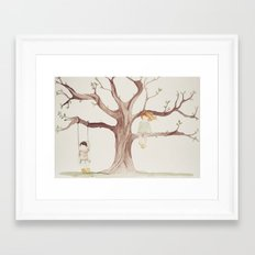 Under the Sycamore Tree Framed Art Print
