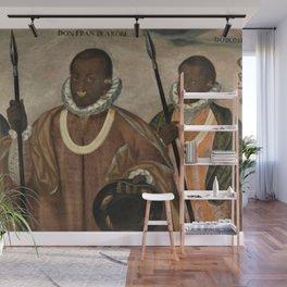 1599 Renaissance African Masterpiece 'Los tres mulatos de Esmeraldas' by Andres Galque Wall Mural