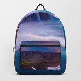 Godafoss Icelandic landmarks waterfall Iceland Europe Backpack