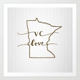 VC Love Art Print