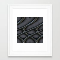 the wire Framed Art Prints featuring The wire by MehrFarbeimLeben