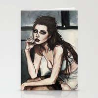 angelina jolie Stationery Cards featuring Angelina Jolie by vooce & kat