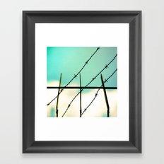 Barbed Framed Art Print