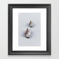 Winter's Benches Framed Art Print
