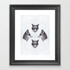 Mrs Fox Design B&W Framed Art Print