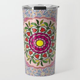Garden Party Doodle Art Travel Mug