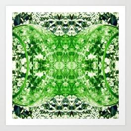 Green Splitting Spheres Art Print