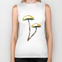 mushroom Biker Tanks featuring mushroom by gaus